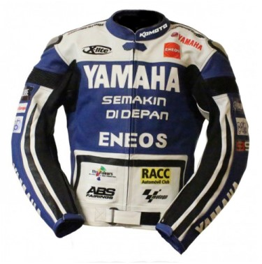 Yamaha Racing Motorbike Leather Jacket BMJ2870