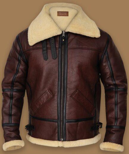 Men Shearling B3 Bomber Jacket
