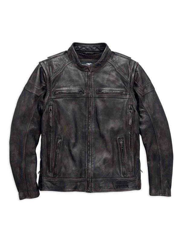 Harley Davidson Men's Dauntless Convertible Leather Jacket