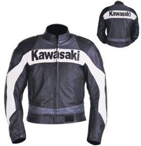 Kawasaki Branded Motorbike Leather Jacket