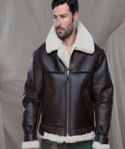 Men B3 Shearling Bomber Jacket