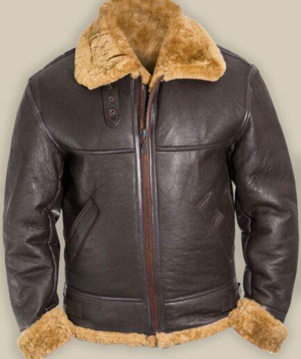 Men B3 Bomber Raf Shearling Jacket