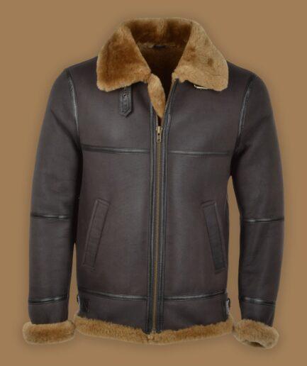 Men Black Raf Pilot Jacket
