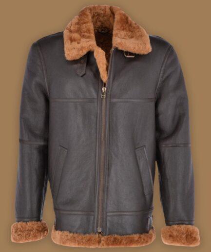 Traditional Raf Shearling Jacket For Men