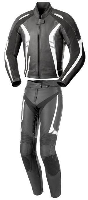 Black Foxton Motorbike Leather Suit