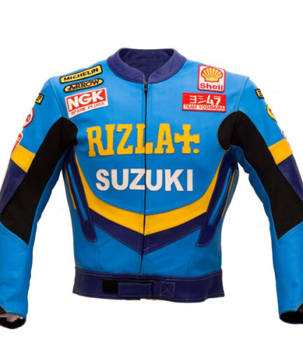 Suzuki Men Motorbike Leather Jacket