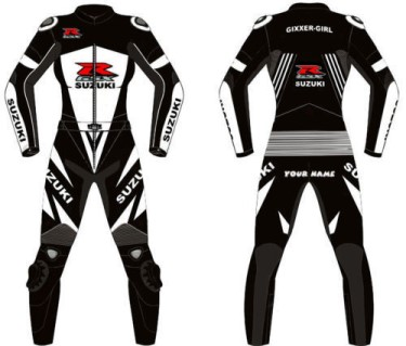 SUZUKI GSXR Motorcycle Leather Suit BSM 2777