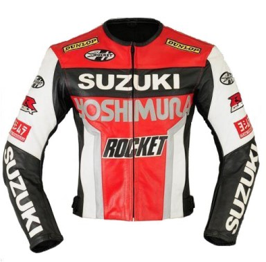 Suzuki GSXR Motorbike Leather Jacket BJM 2719