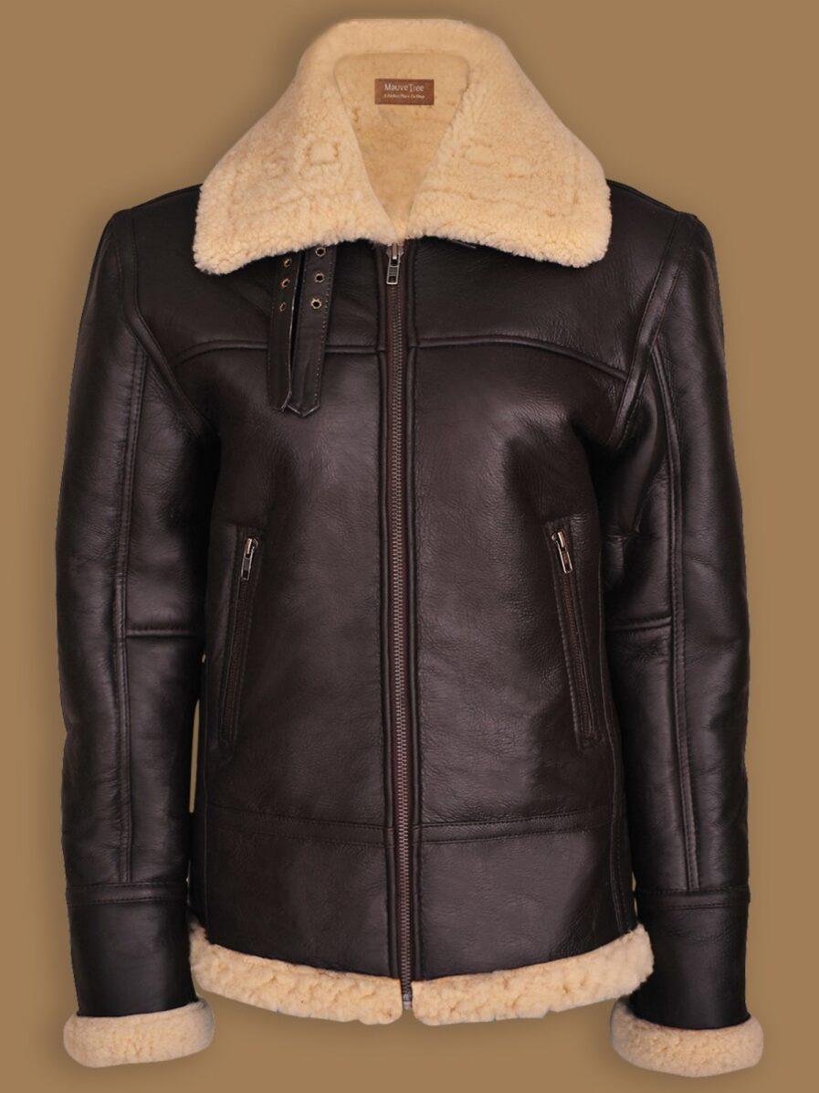 Women B3 Bomber Shearling Aviator Jacket