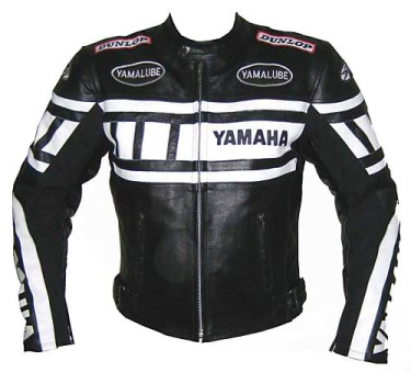 Yamaha R Motorbike Leather Jacket