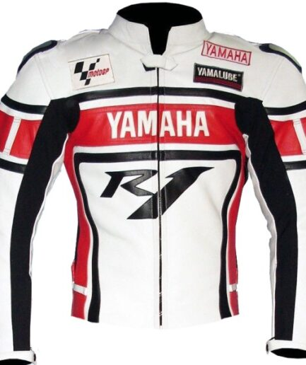 Yamaha Sport Motorcycle Leather Jacket BMJ2836