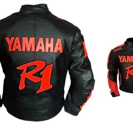 Yamaha R1 Motorbike Leather Jacket BMJ2871
