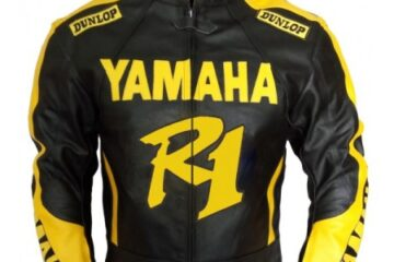 Yamaha R1 Motorbike Leather Jacket BMJ2866