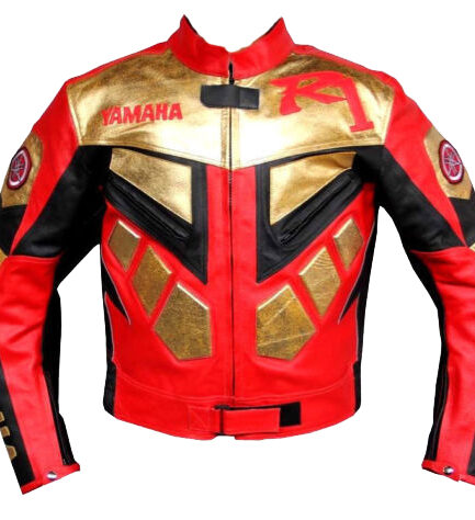 Yamaha R1 Motocycle Leather Jacket BMJ2818