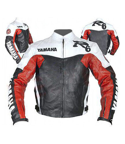Yamaha R6 Branded Motorbike Leather Jacket