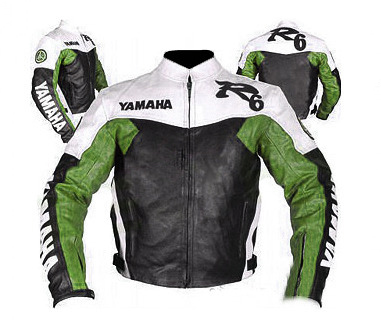 Yamaha R6 Motorcycle Sport Leather Jacket