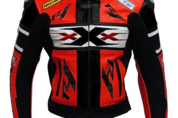 Yamaha R1 Xxx Red Black Genuine Cowhide Racing Motorcycle Leather Jacket