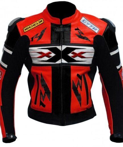 Yamaha R1 Xxx Red Black Genuine Cowhide Racing Motorcycle Leather Jacket